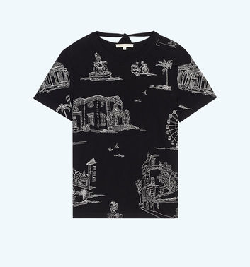 T-shirt with Paris embroidery